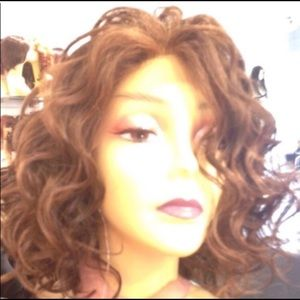Accessories - Wig quality curly bob auburn Swisslace Lacefront